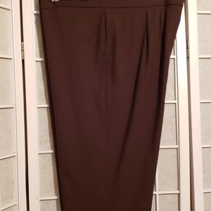DANA BUCHMAN WOOL CUFF DRESS PANTS BROWN SZ 12